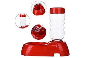 Distributeur d eau rouge pour chien