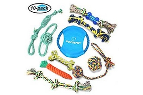 Panel de jouets en corde pour chien