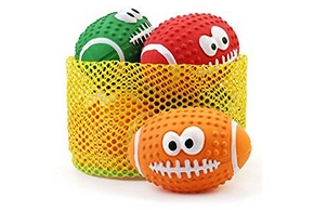 3 ballons sonores en forme de rugby