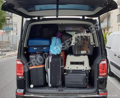 Aerocabservices taxis aeroports avec 2 caisses chiens copie 2