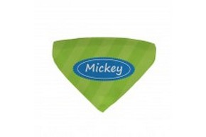 Bandana vert pour chien personnalise