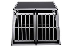 Cage avec toit pour chien