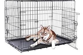 Chien dans une cage