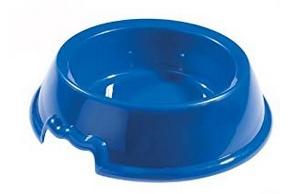 Gamelle en plastique bleu pour chien
