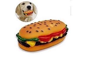 Jouet sonore pour chien en forme de sandwitch